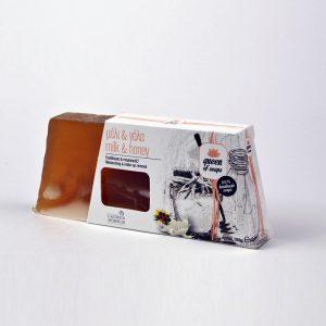Σαπούνι για ενυδάτωση και ντεμακιγιάζ με ζεόλιθο, γάλα, μέλι