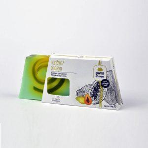 Σαπούνι για απολέπιση και αντιγήρανση με ζεόλιθο, αιθέριο έλαιο παπάγιας