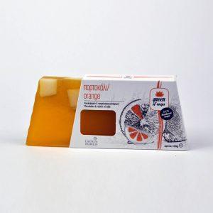 Σαπούνι αναγέννησης των κυττάρων με ζεόλιθο, χυμό και αιθέριο έλαιο πορτοκαλιού