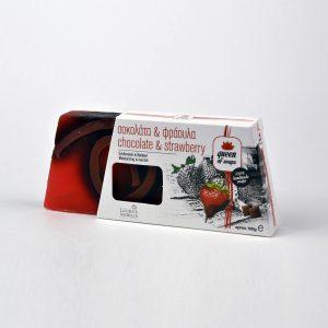 Σαπούνι για ενυδάτωση και θρέψη με ζεόλιθο, σοκολάτα, αιθ. έλαιο φράουλας